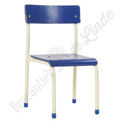 Kinderschoolstoel blauw