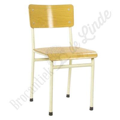 Schoolstoel wit type 01
