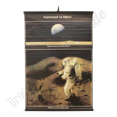 Oude schoolplaat astronauten