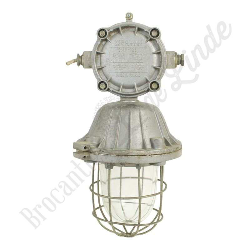 "Oude industriële kooilamp ""Bully XL"" - gietijzeren fabriekslamp"