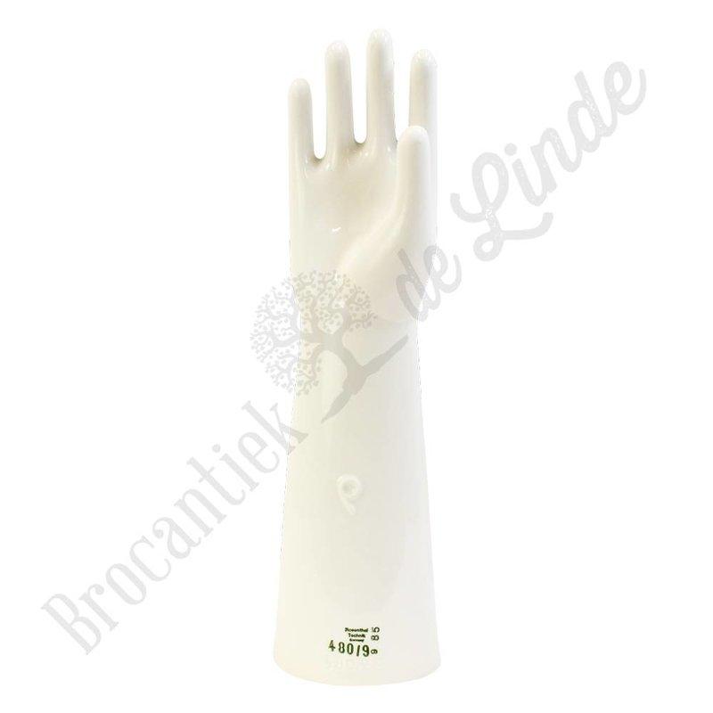 Handschoen mal van porselein Groot