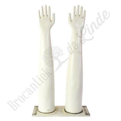Dubbele handschoen mal porselein