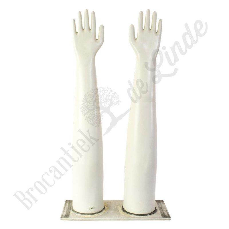 Dubbele handschoenmal van porselein