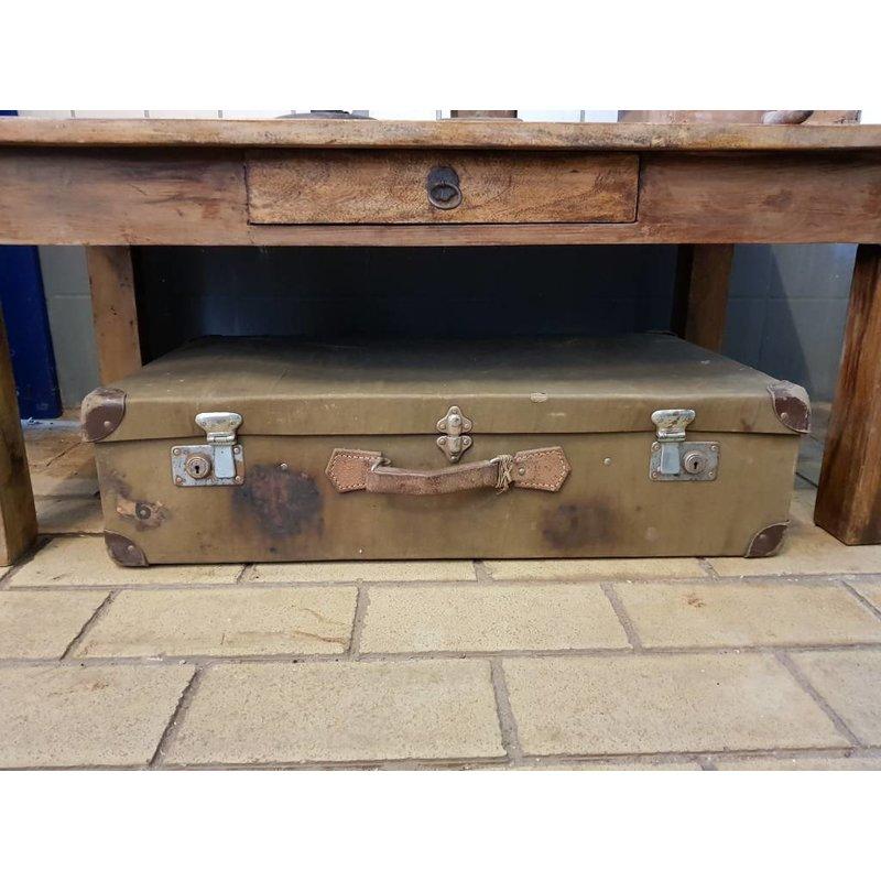 Vintage koffer oudgroen ''No. 41''