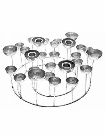 GIFT Company Kerzenständer Silber S