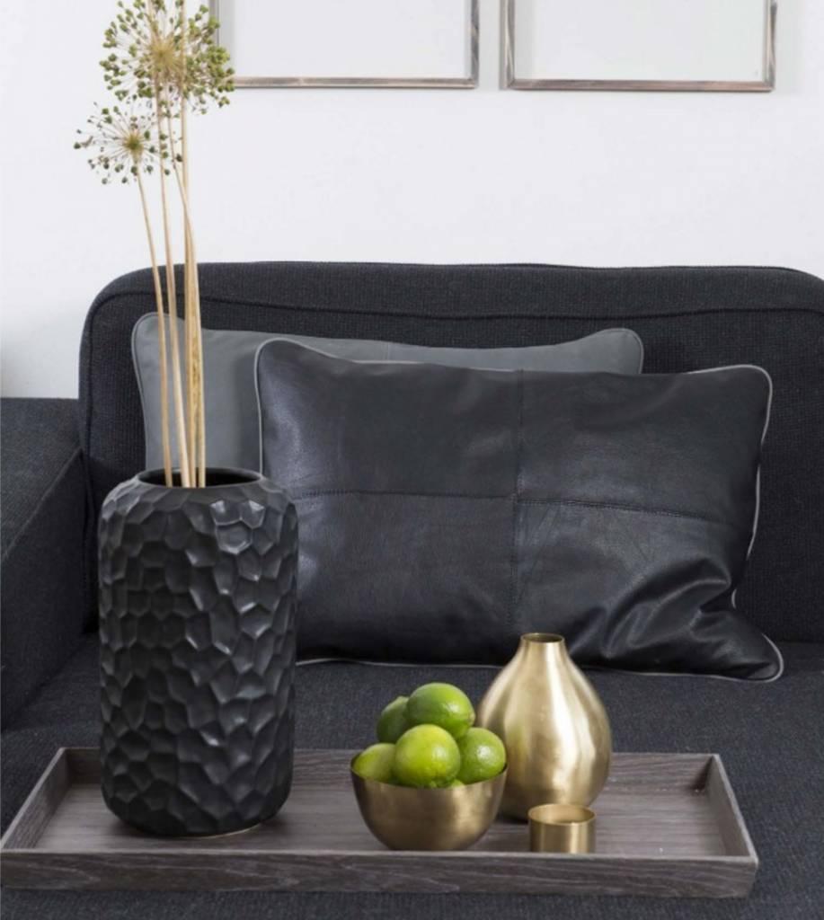 Vase Keramik schwarz
