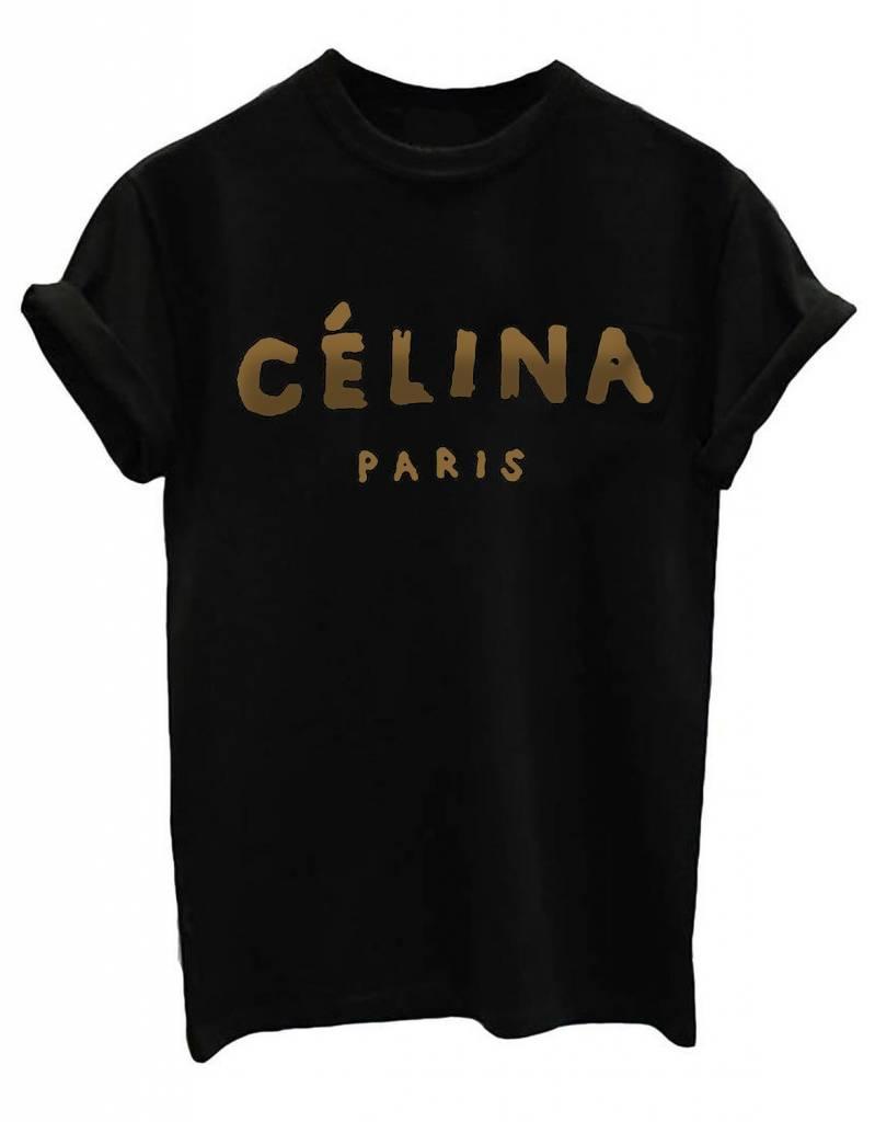 livstil CÉLINA blackgold Shirt schwarz