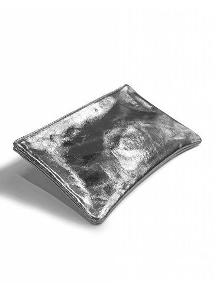 livstil Clutch/Kosmetik Silber-Metallic