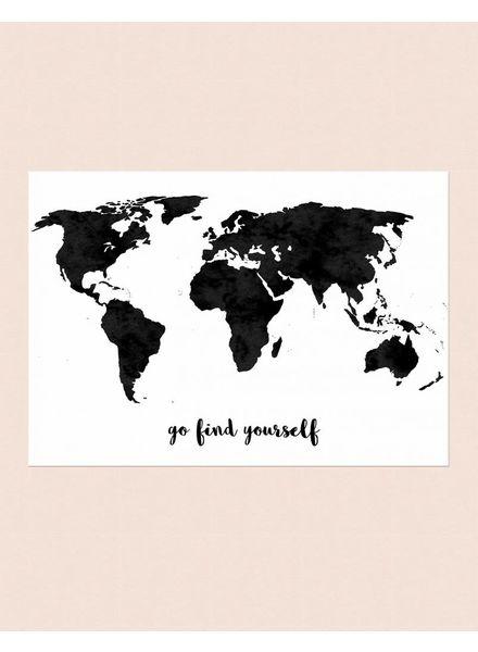 livstil Weltkarte auf Leinwand