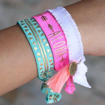 Love Ibiza Aloha - Arm - und Haargummi
