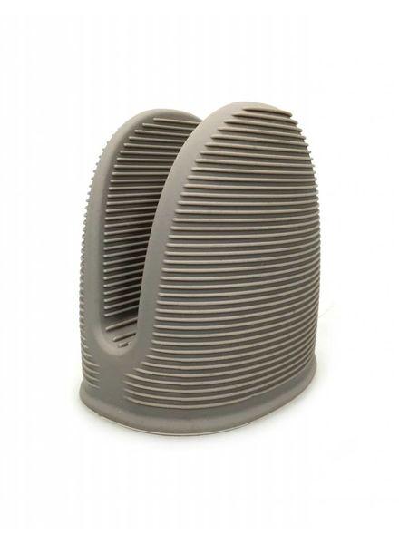 Topf/Backofenhandschuh aus Silikon taupe