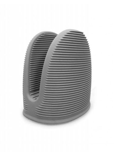 Topf/Backofenhandschuh aus Silikon grau