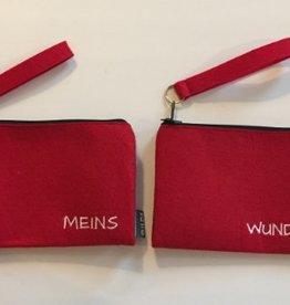 Filz Doppeltaschen Rot