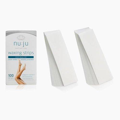 nu:ju® Beauty Vliesstreifen für Haarentfernung im Gesicht | 100 Stck. 13 x 3,5 cm