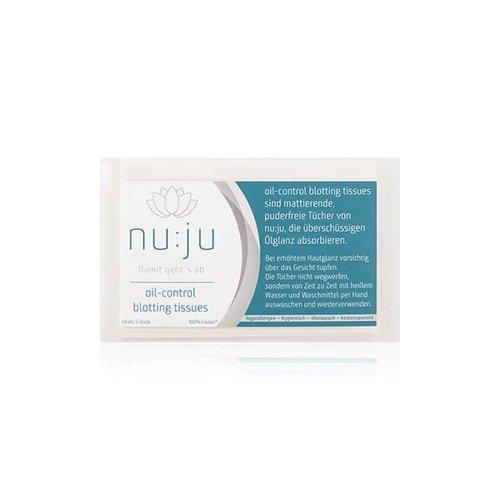 nu:ju® Beauty Oil-control blotting tissues | 5 Stück im Etui