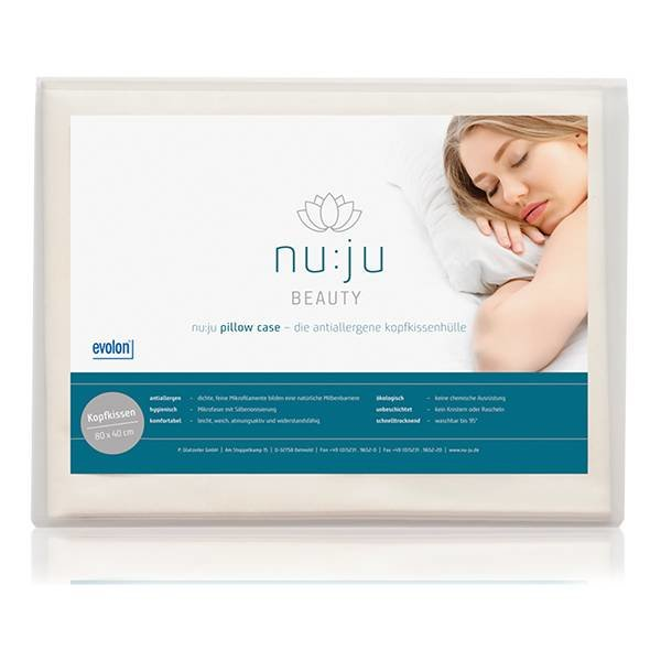 nu:ju® Beauty Microfibre pillowcase anti-mite, silver-ionised | pack of one in 40 x 80 cm