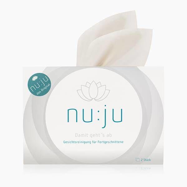 "nu:ju® Beauty nu:ju Microfibre facial cleansing cloth ""THE ORIGINAL"" made of Evolon®, silver-ionised | 2 cloths incl. travel case"