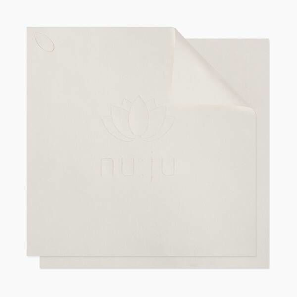 "nu:ju® Beauty Microfibre facial cleansing cloth ""THE ORIGINAL"", silverized 