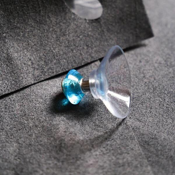 FairWerk Saugnapfhaken von Fairwerk | Handgefertigt aus Glas in Türkis 1 Stück