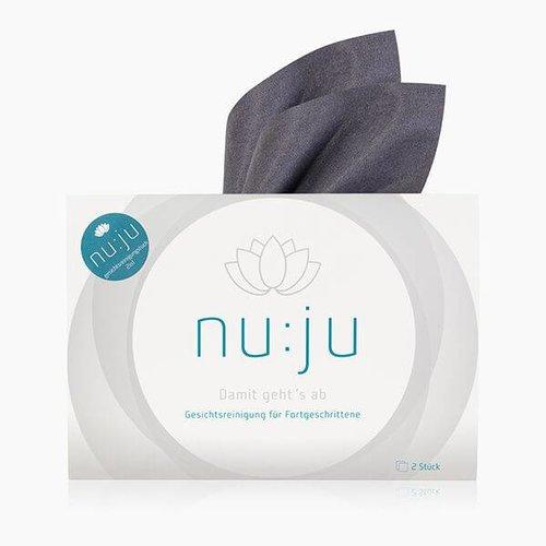 nu:ju® Beauty Mikrofaser Abschminktuch 2in1 aus Evolon® | 2er Pack inkl. Etui
