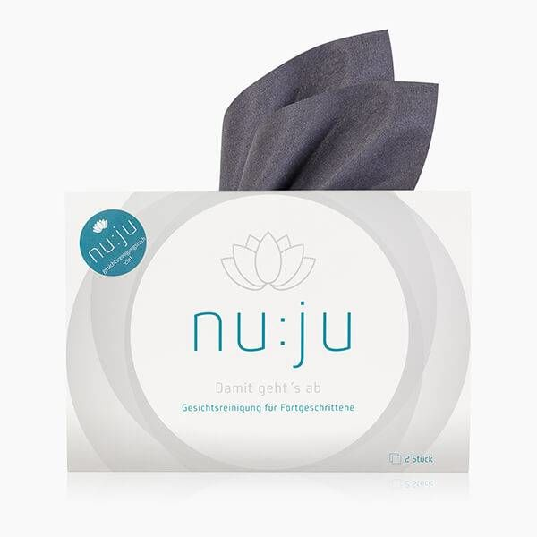 nu:ju® Beauty Evolon® facial cleansing cloth 2in1, silver-ionized | incl. travel case