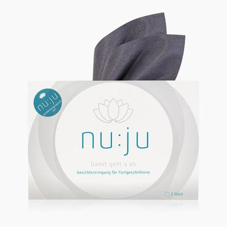 nu:ju® Beauty Microfibre facial cleansing cloth 2in1 made of Evolon®   2 cloths incl. case