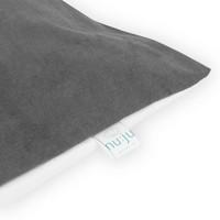 nu:ju® Beauty nu:ju Wende-Kopfkissenbezug SOFT TOUCH aus Evolon®, silberionisiert, Anti-Milben | 1 Stück in 80 x 80 cm - Grau/Weiß
