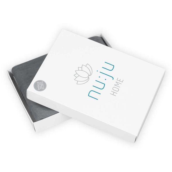 nu:ju® Beauty nu:ju Wende-Oberbettbezug SOFT TOUCH aus Evolon®, silberionisiert, hypoallergen | 1 Stück in 155 x 200 cm  - Grau/Weiß