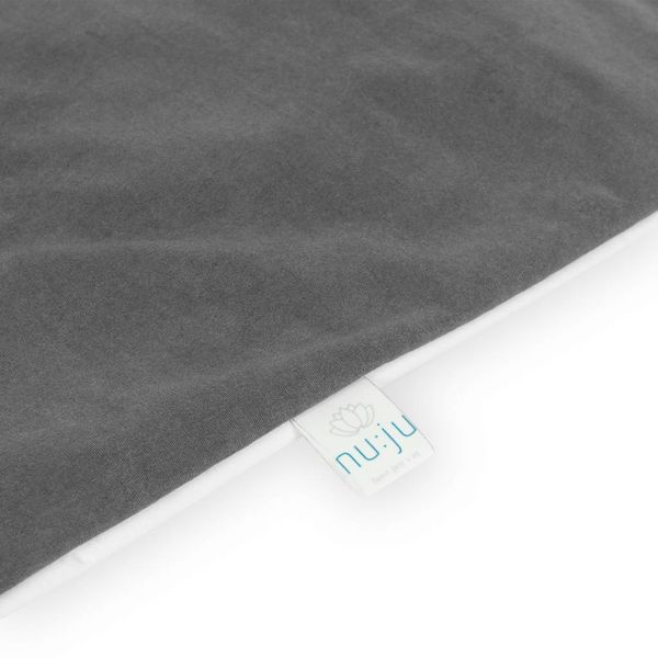 nu:ju® Beauty nu:ju Wende-Oberbettbezug SOFT TOUCH aus Evolon®, silberionisiert, hypoallergen | 1 Stück in 135 x 200 cm - Grau/Weiß