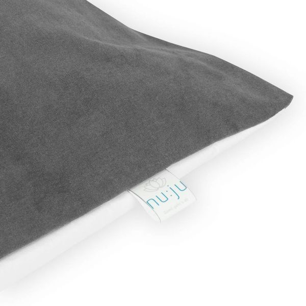 nu:ju® Beauty Reversible pillowcase anti-mite SOFT TOUCH made of Evolon® , silver-ionised | 1 piece of 80 x 40 cm, Grey/White