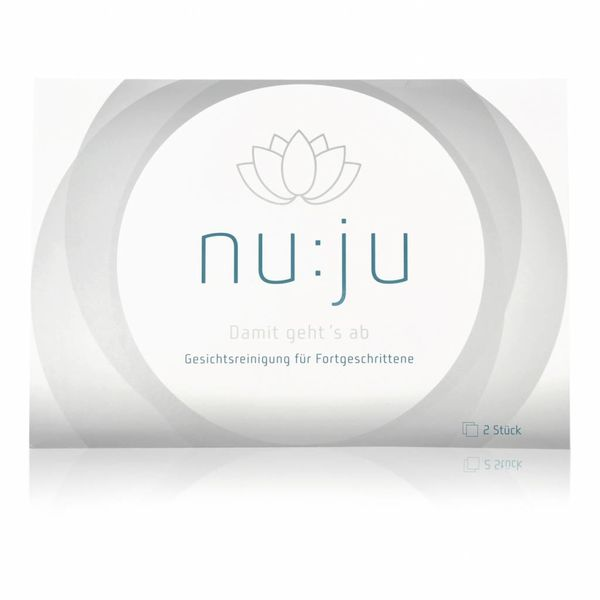 "nu:ju® Beauty Microfibre facial cleansing cloth ""Sensitive"" made of Evolon®, silverized | 2 cloths incl. travel case"