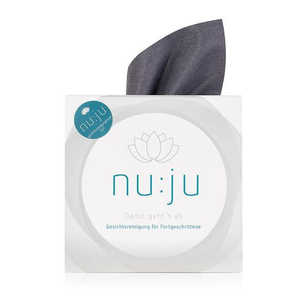 "nu:ju® Beauty Mikrofaser Abschminktuch ""2in1"" aus Evolon®, silberionisiert | 1er Pack inkl. Etui"