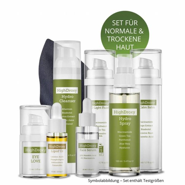 Introductory set for normal & dry skin types | incl. travel case