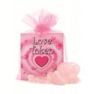 Roze kwarts love token set