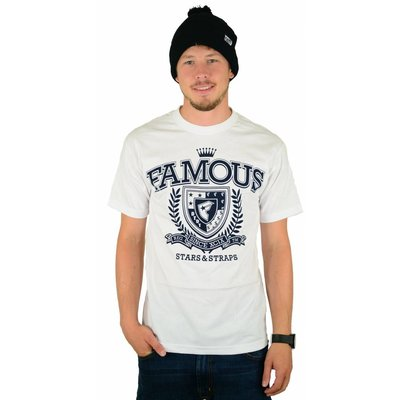 Famous Stars and Straps Trigger T-Shirt White/Blue