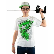 Famous Stars and Straps Stone Pop T-Shirt White/Lime