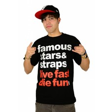 Famous Stars and Straps Simple T-Shirt Black/White/Red