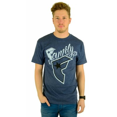 Famous Stars and Straps New Wildcat T-Shirt Denim Heather