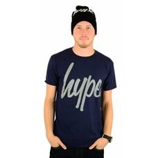 Hype Script T-Shirt Navy/Grey