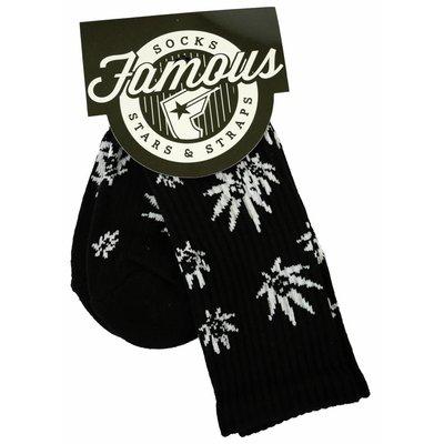 Famous Stars and Straps Fam Grown Socks Black/White