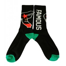Famous Stars and Straps West Coastin Socks Black O/S