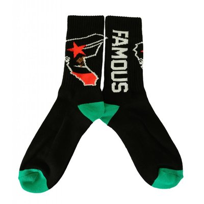 Famous Stars and Straps West Coastin Socks Black O/S