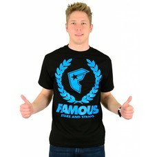 Famous Stars and Straps Wreath Boh T-Shirt Black/Turquoise