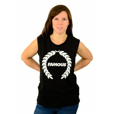 Famous Stars and Straps Turnt Wreath Muskel T-Shirt Black