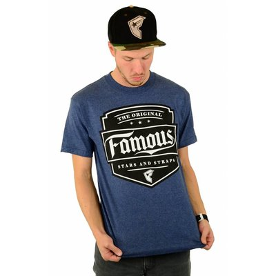 Famous Stars and Straps Top Notch T-Shirt Denim Heather