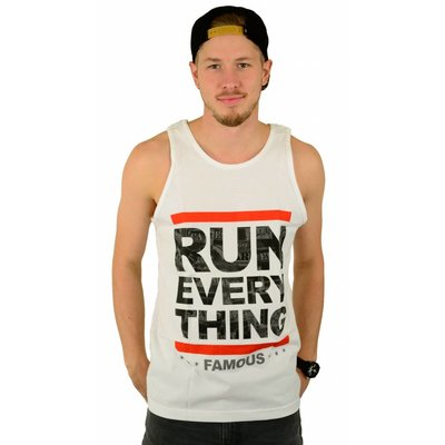 Famous Stars and Straps Run Everything Tank Top White