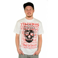 Famous Stars and Straps Pompadour Skull T-Shirt White