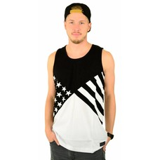 Famous Stars and Straps Noir Flag Tank Top Black/White