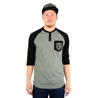 Famous Stars and Straps Patch Raglan Charcoal Salaltnpepper/Black