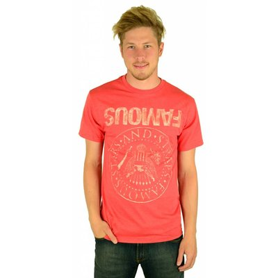 Famous Stars and Straps Influx T-Shirt Red Heather